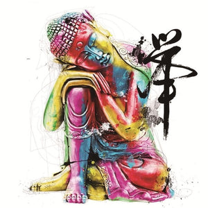 Multi Color Buddha, DIY Diamond Painting Kit, Limited -Diamond Paintings, Diamond Paintings Store