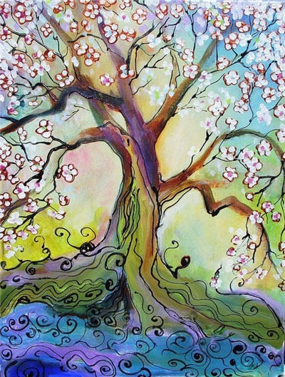 Color Blossom Trees, Vivid DIY Diamond Painting Kits. 12 Patterns to select -Diamond Painting Kits, Diamond Paintings Store