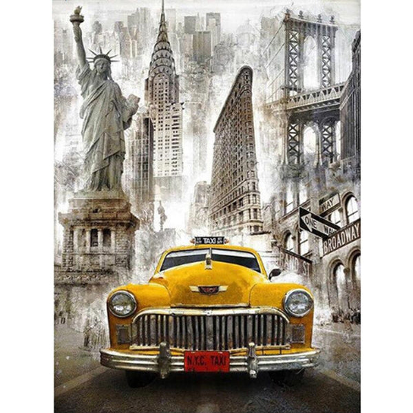 New York Taxi - Diy Diamond Embroidery Painting Kit. On Sale -Diamond Paintings, Diamond Paintings Store