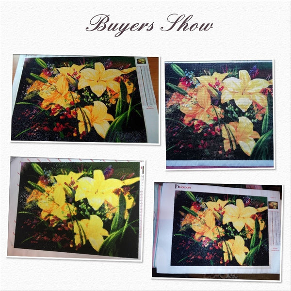 Yellow Flower bouquet Diamond Painting. Beautiful Rhinestone Diamonds - Full Square Drill -Diamond Paintings, Diamond Paintings Store