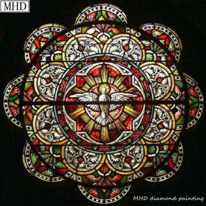 "New - 5d DIY Diamond Painting - Stained Glass inspired ""Medallion"" -Diamond Painting Kits, Diamond Paintings Store"