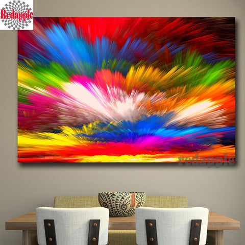 Colorful Clouds 5D Diamond Painting Kit on Sale!, Abstract Full square drill, DIY diamond Painting - Diamond Paintings Store