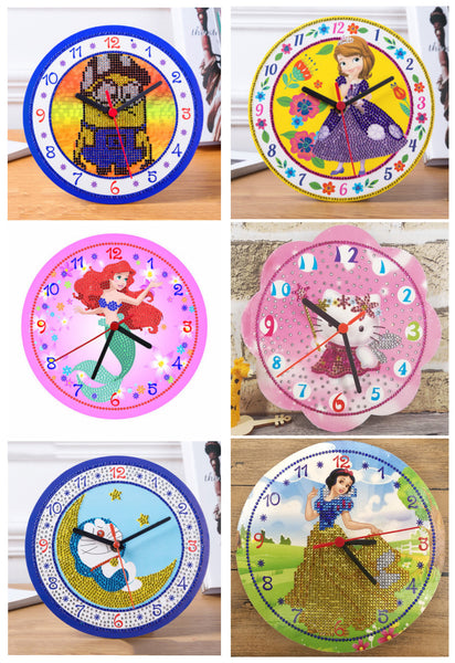 NEW - 2019 Disney Wall Clock, 5D Diamond Painting Kits  - On Sale -Diamond Painting Kits, Diamond Paintings Store