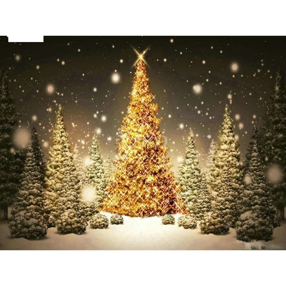 White Lights Christmas Tree 5D Diamond Painting Kit -Diamond Paintings, Diamond Paintings Store
