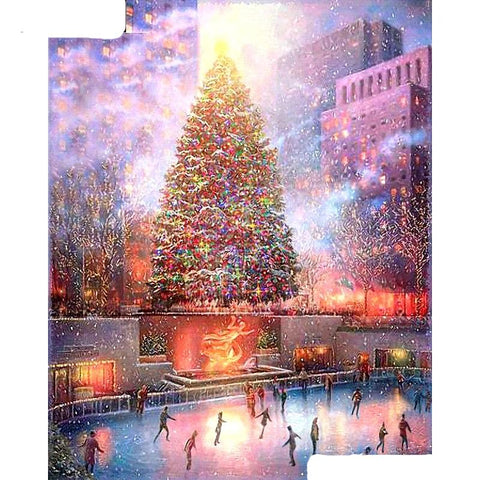 NEW Rockefeller Christmas Tree, 5D Diamond Painting - Full Square/Round Drill -Diamond Paintings, Diamond Paintings Store