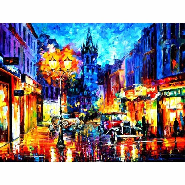 City Nights Crystal Diamond Painting, full drill square -Diamond Painting Kits, Diamond Paintings Store