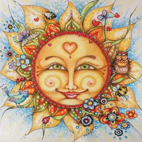 Lovely Sun & Friends 5d DIY Diamond Painting | Full Square / Round Drill Diamond Mosaic Embroidery Art -Diamond Paintings, Diamond Paintings Store