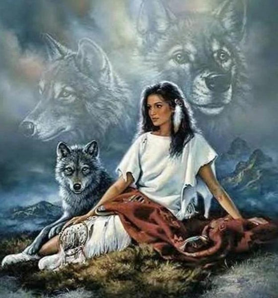 """Indian Wolves"" 5D Diamond Painting Kit 