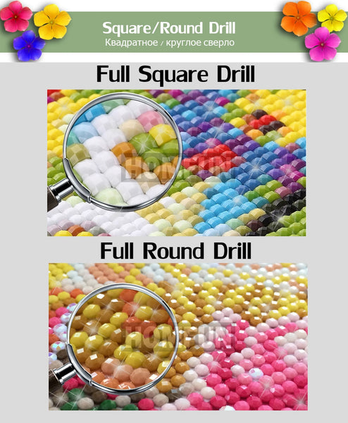 Fields of Birds and Color, DIY Diamond Painting | Full Square/Round Drill Diamond Rhinestones, Mosaic Needlepoint Diamond Art -Diamond Painting Kits, Diamond Paintings Store