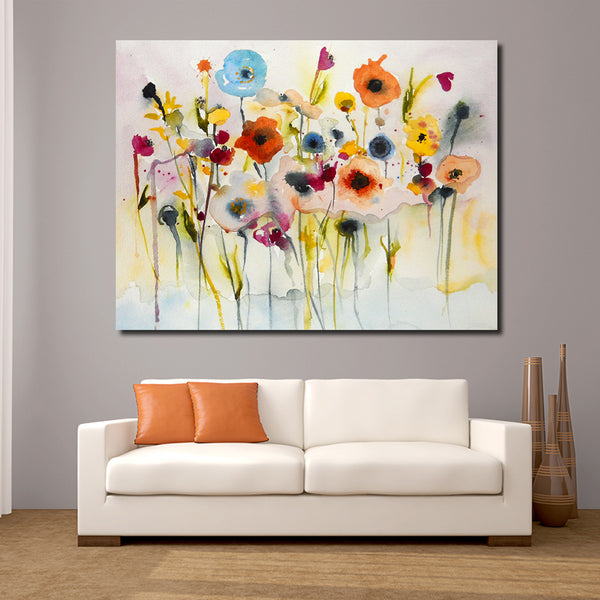 5D Diamond Painting Round/Square Drill | Abstract Red Yellow Blue Flowers | Modern Nature Wall Art -Diamond Painting Kits, Diamond Paintings Store