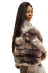 Fur sleeveless cosy coat