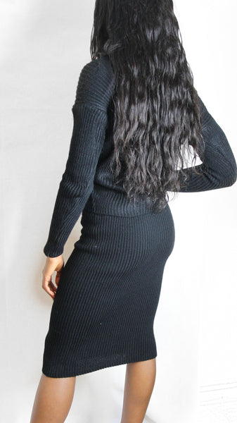 Handmade two piece black skirt