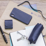 AirPods leather case -  blue indigo