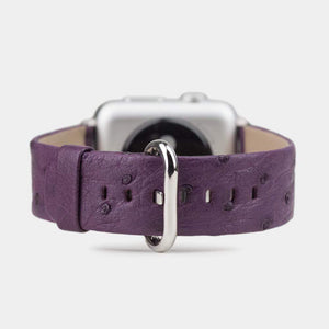 purple ostrich strap Apple watch 38 & 40mm - by Marcel Robert (FR) apple watch strap