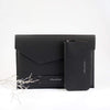 notebook 17'' leather pouch - black
