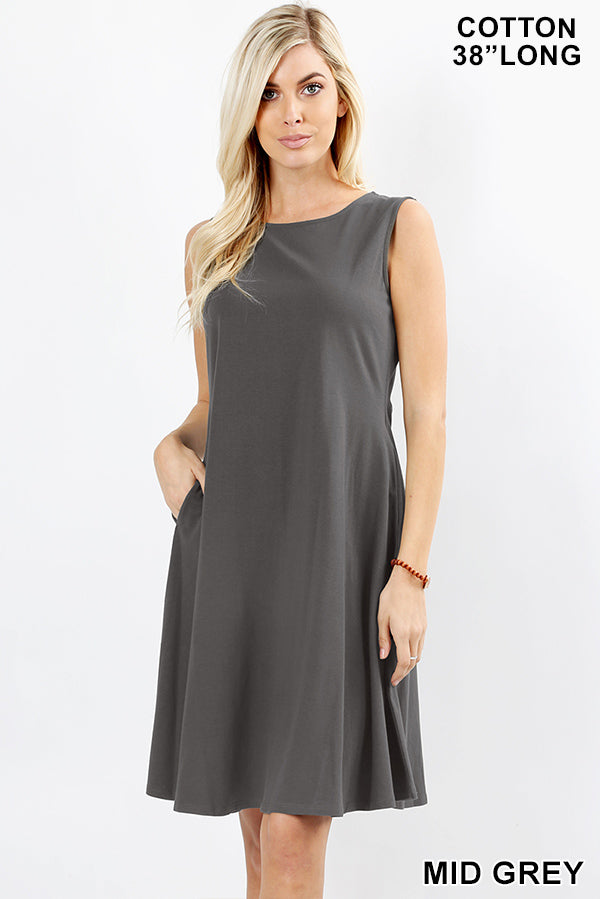 MID GRAY - CLASSIC A-LINE DRESS