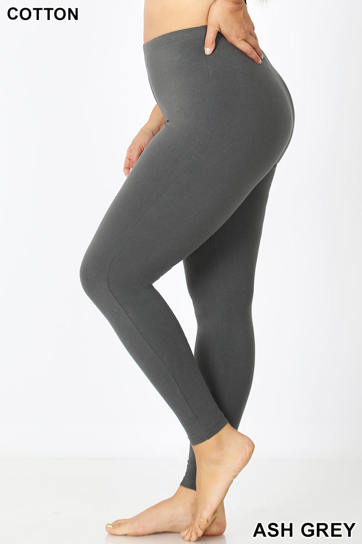 PLUS PREMIUM COTTON FULL LENGTH LEGGINGS