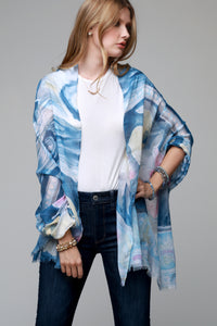 Watercolor Floral Scarf