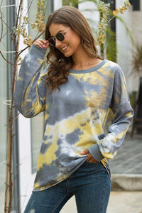 Yellow - Color Block Patchwork Sweatshirts