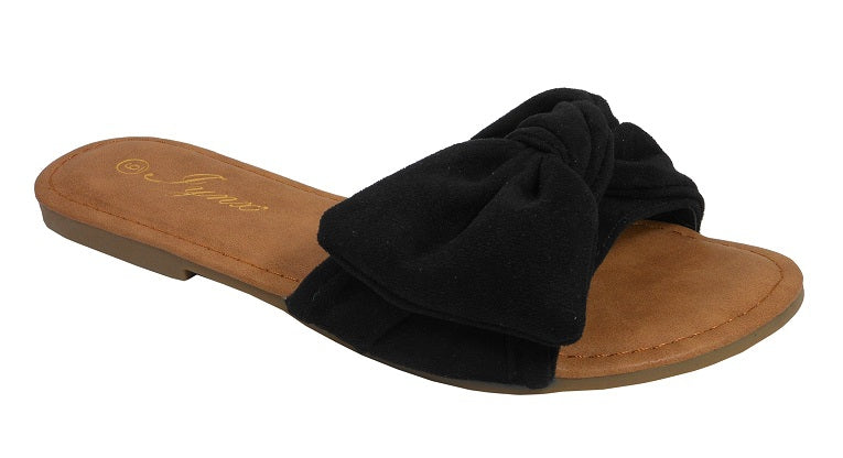 Black Slip On Sandal