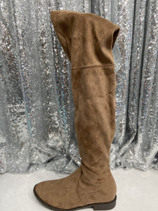 The Anora Boots in Taupe