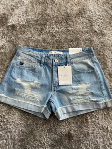 Kancan Shorts with Hem Detail