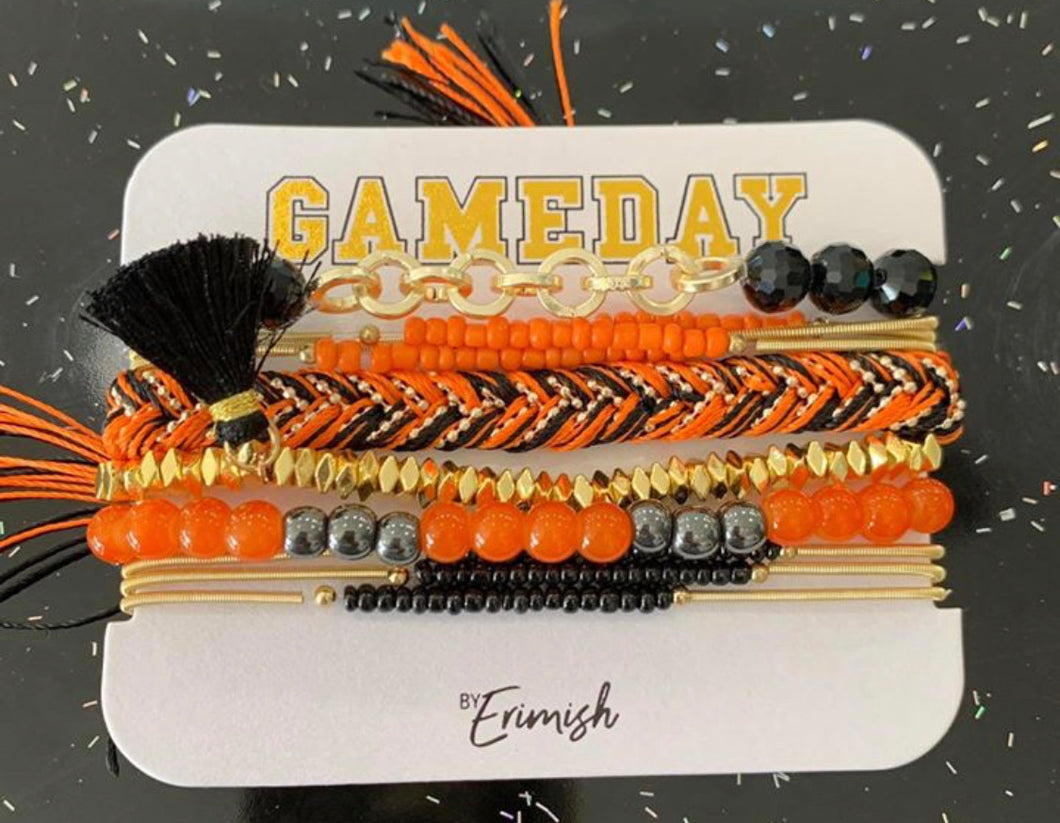 Game Day Erimish Stack Bracelets