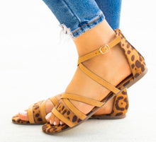 Load image into Gallery viewer, AVENO Strappy Leopard Print Sandal