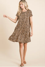 Load image into Gallery viewer, Leopard Print Swing Dress