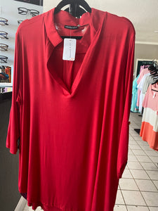RED - 3/4 LENGTH SLEEVE SHIRT