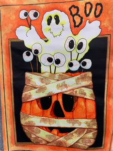 BOO PUMPKIN GHOST GARDEN FLAG