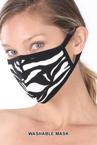 ZEBRA PRINT WASHABLE MASK