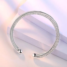 Load image into Gallery viewer, Silver winding soul bracelet