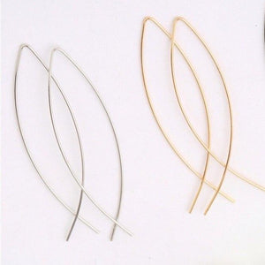 Sophisticated Almond Thread Earrings