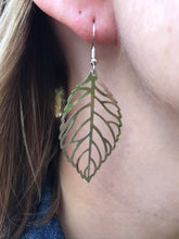 Load image into Gallery viewer, Light as air Large Silver Leaf Earrings