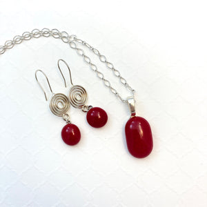 Coiled Crimson- Set
