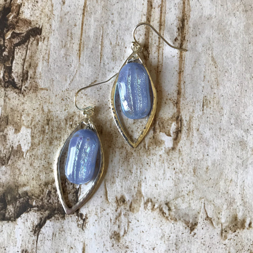 Blue Almond - Earrings