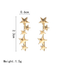 Load image into Gallery viewer, Star Climber Earrings