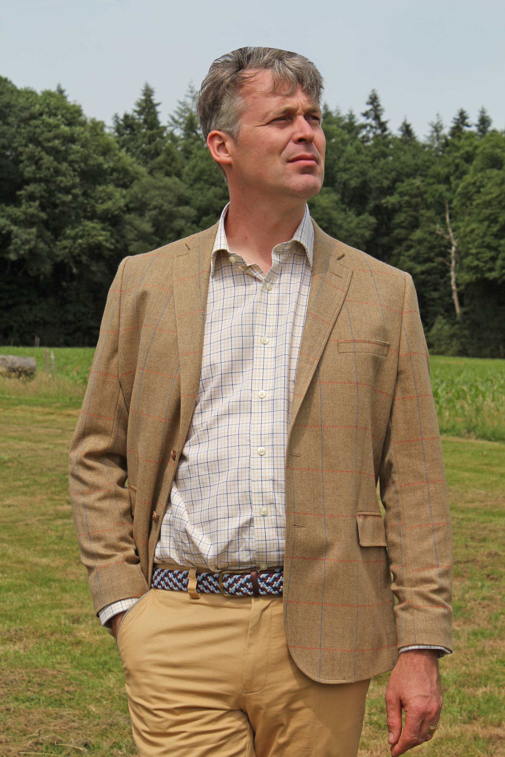 Veste Homme Eté Tweed Moutarde Veste