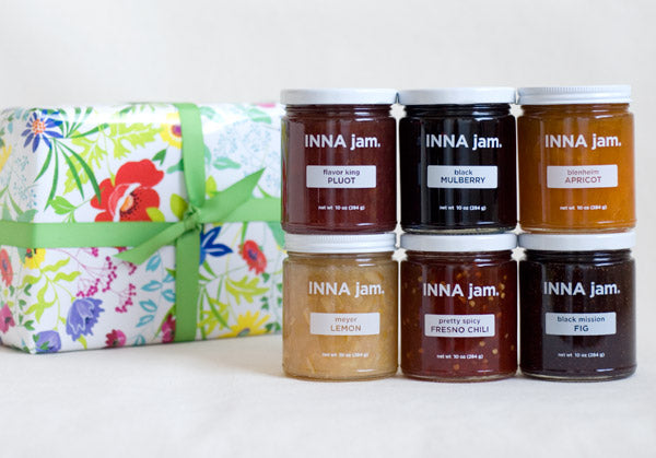 GIFT: 6 jars of jam + FLOWERS! gift wrap (choose your flavors)