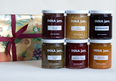 GIFT: 6 jars of jam + FRUIT! gift wrap (choose your flavors)