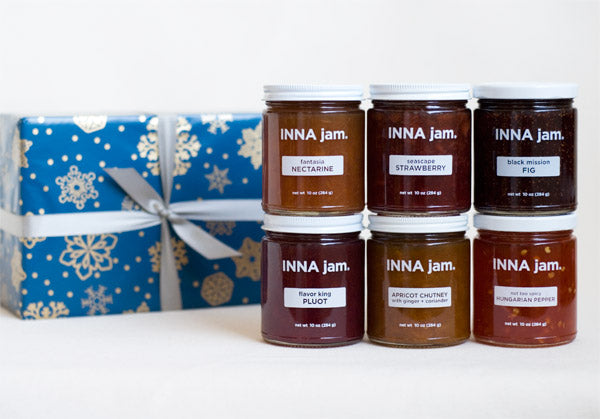 GIFT: 6 jars of jam + SNOWFLAKES! gift wrap (choose your flavors)
