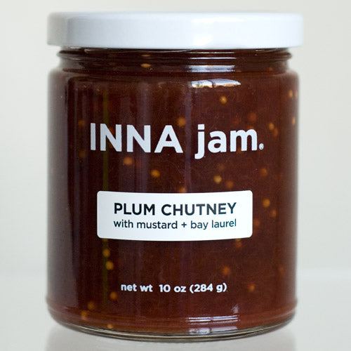 PLUM CHUTNEY with mustard + bay laurel