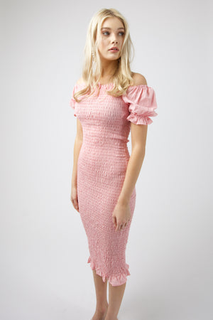 Micha Midi Dress - BLUSH