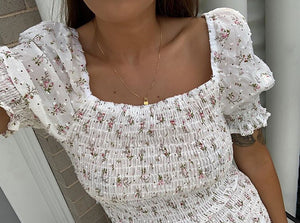 Dream Girl Dress - WHITE FLORAL