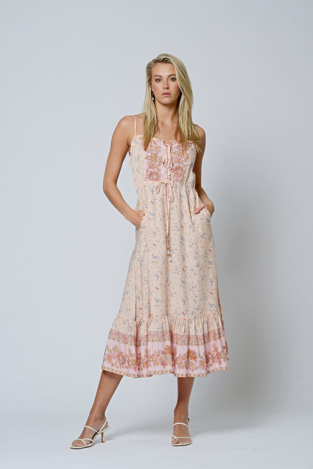 Paris Dream Dress - HONEYDEW