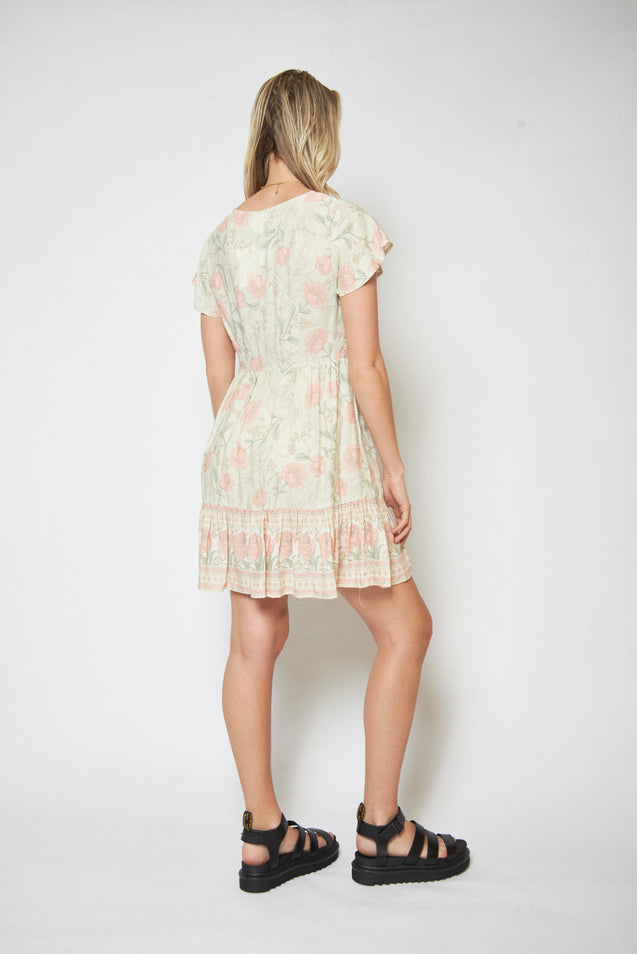 Mary Dress - HONEYDEW