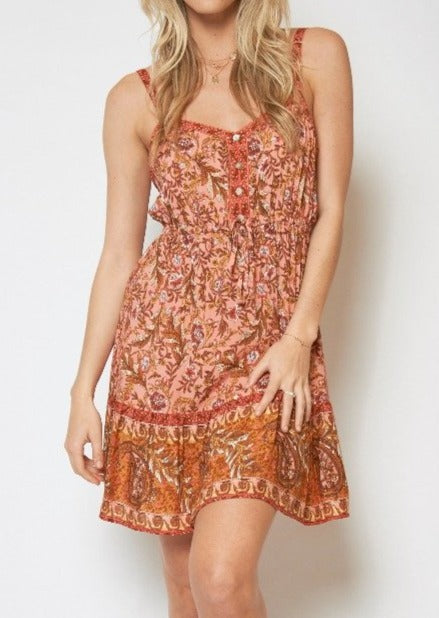 Bella Cami Dress - PEACH