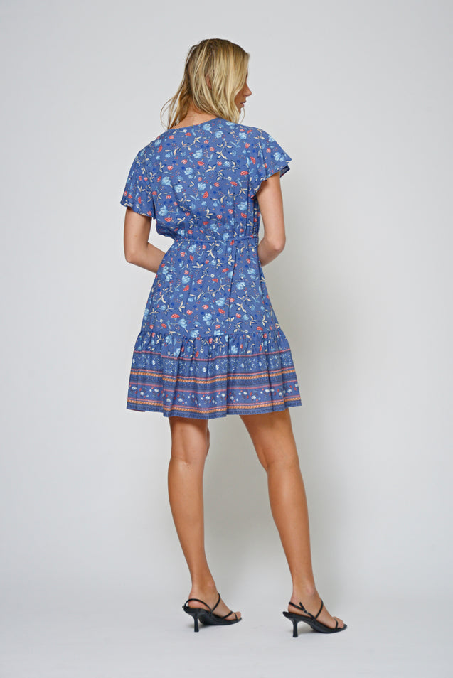 Corella Short Dress - NAVY