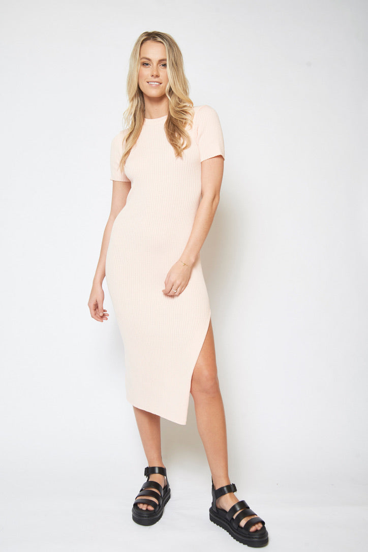 Nelly Midi Dress - LIGHT PINK